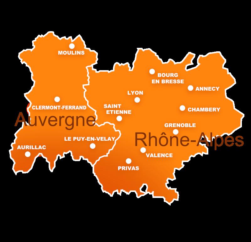 Contrat gaz pour les professionnels en région Auvergne-Rhône-Alpes